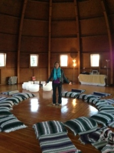 Integratron Interior with bowls
